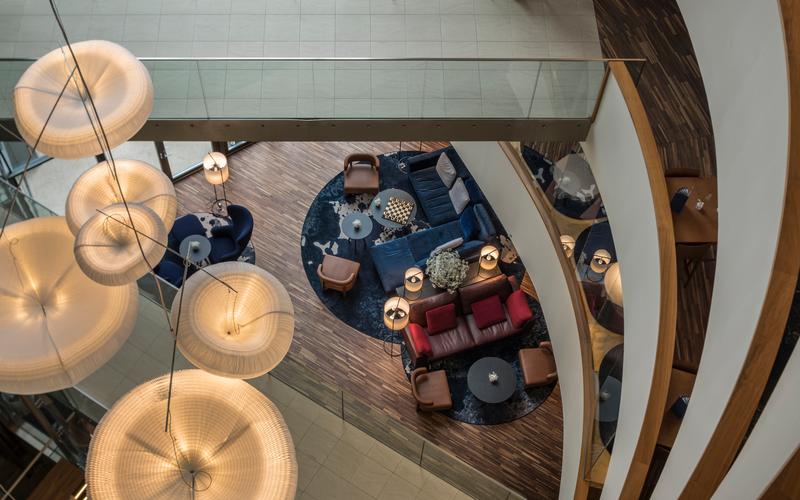 Lobby-Impression des Falkensteiner Balance Resort Stegersbach