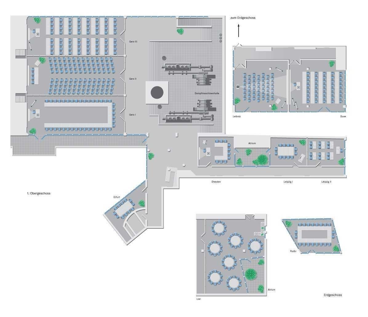 Novotel Hannover-Übersichtsplan Tagungsräume